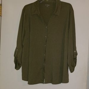 Kim Rodgers Button Up Top Size 3X